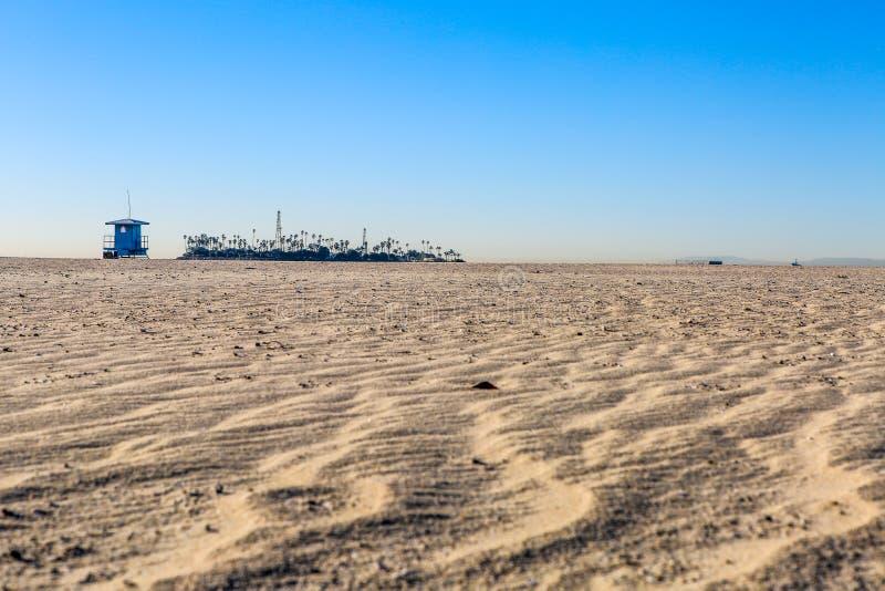 Het wind geveegde eiland van de strandolie stock foto