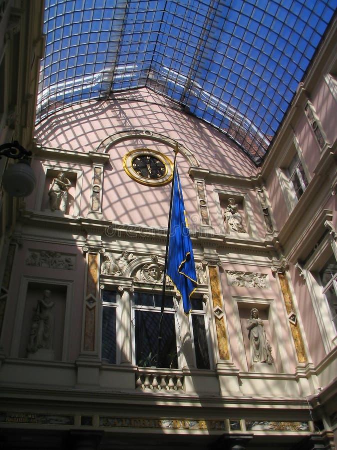het winkelcomplex van de de 19de eeuwluxe in Brussel de stad in. royalty-vrije stock afbeeldingen