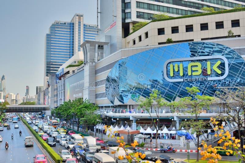 Het winkelcomplex van het Mbkcentrum bangkok thailand royalty-vrije stock foto's