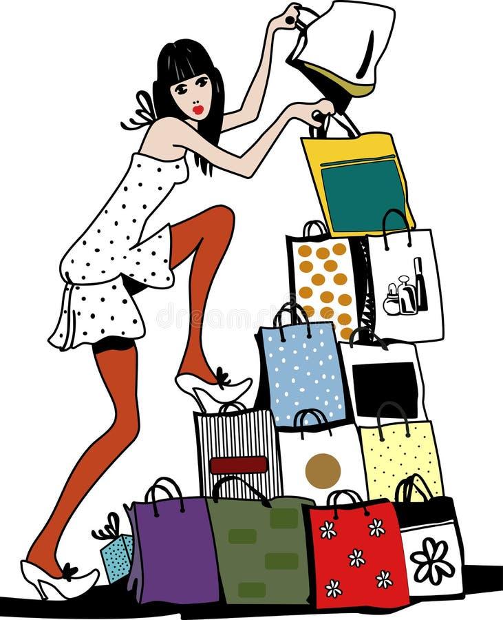 Het winkelen vector illustratie