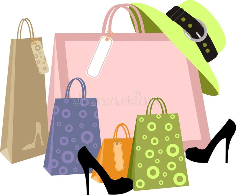 Het winkelen stock illustratie