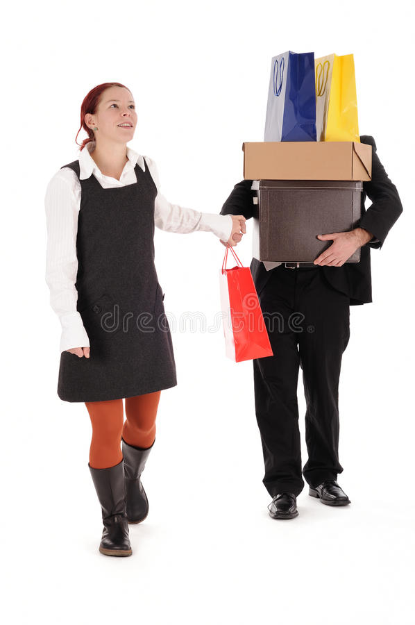 Het winkelen, aankoop royalty-vrije stock afbeelding