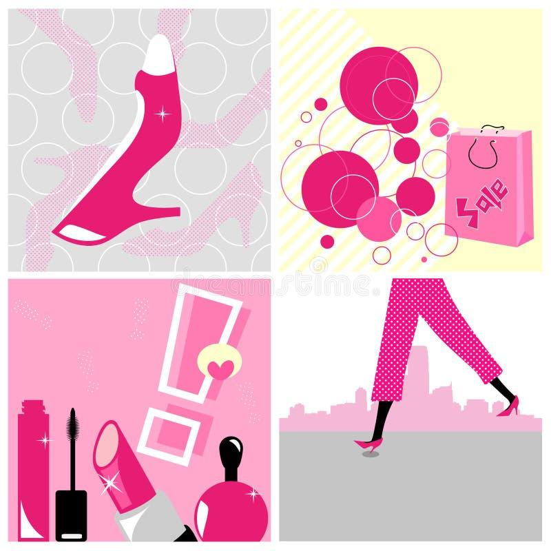 Het winkelen Collage vector illustratie