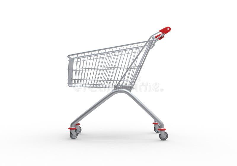 Het winkelen 3d karretje, geeft terug vector illustratie