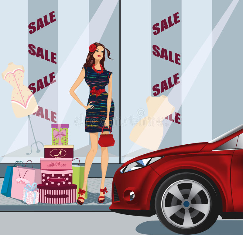 Het winkelen dag vector illustratie
