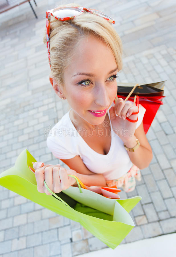 Het winkelen Dag stock foto