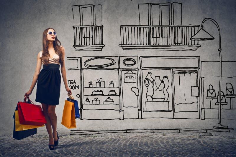 Het winkelen dag royalty-vrije stock afbeeldingen