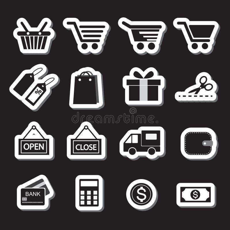 Het winkelen de Reeks van het Pictogram De reeks van Simplus stock illustratie