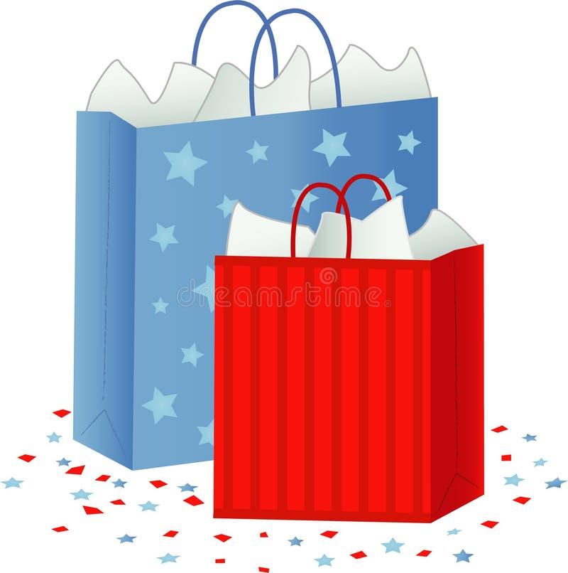 Het winkelen/de Zakken van de Gift vector illustratie