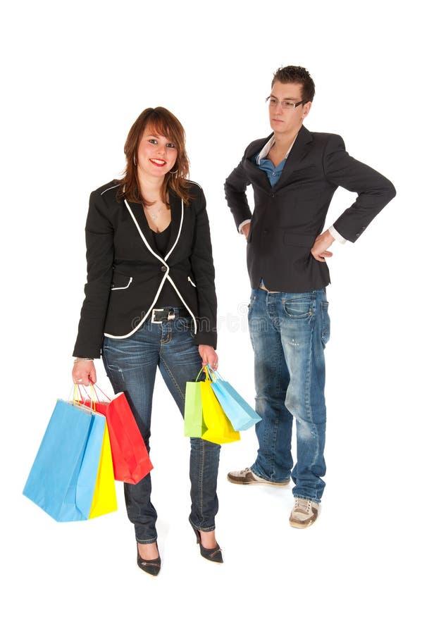 Het winkelen dilemma royalty-vrije stock foto's