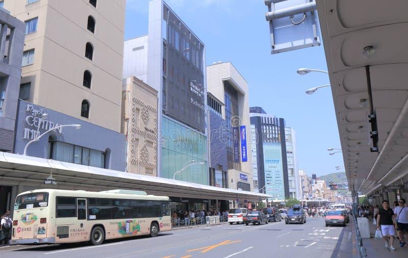 Het winkelen district Kyoto Japan stock foto's