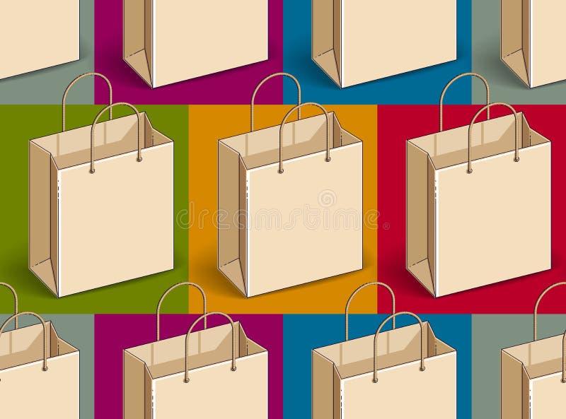 Het winkelen doet naadloze achtergrond, achtergrond voor markt of online winkelwebsite, het seizoengebonden thema van de verkoopo stock illustratie