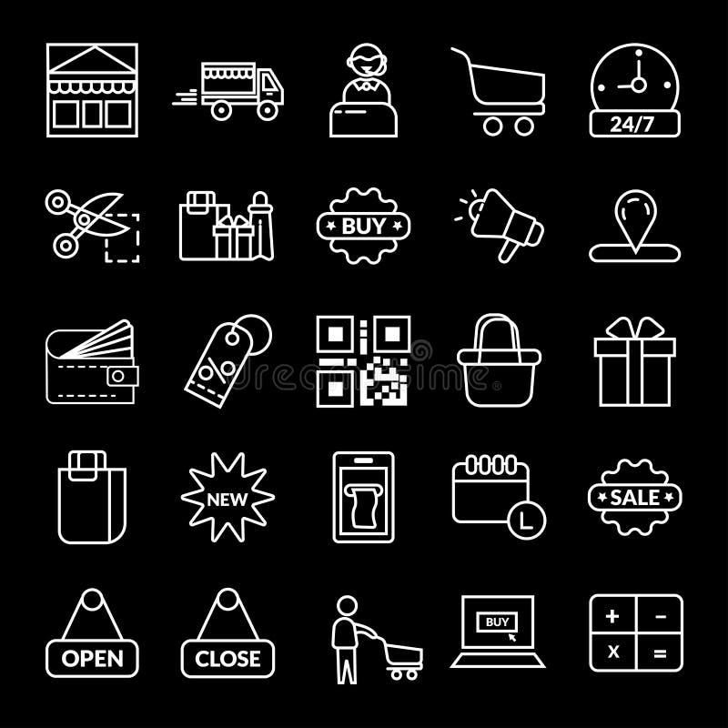 het winkelen, E-commerce vectorpictogram vector illustratie