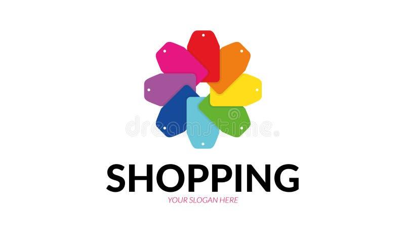 Het winkelen embleem vector illustratie