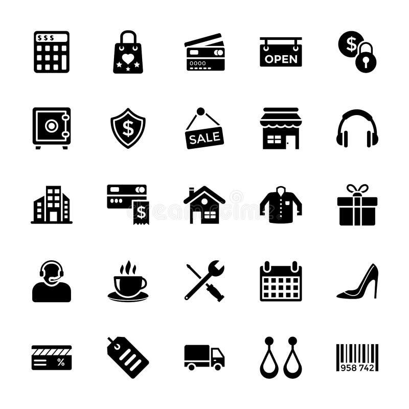 Het winkelen en Handelspictogram royalty-vrije illustratie
