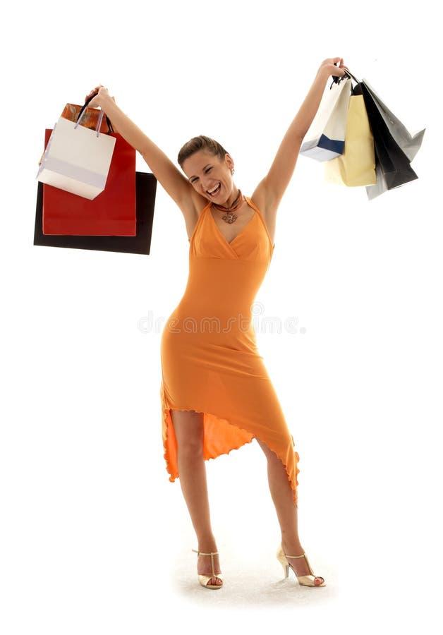 Het winkelen euforie royalty-vrije stock afbeeldingen