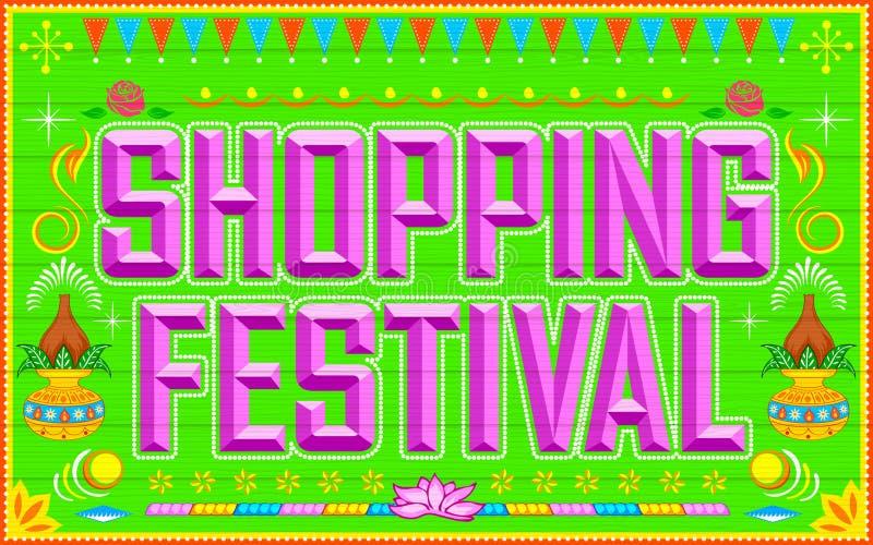 Het winkelen Festival stock illustratie