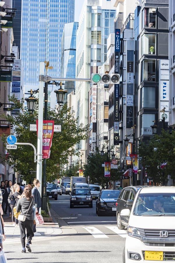 Het winkelen het gebied Tokyo van straatginza royalty-vrije stock foto