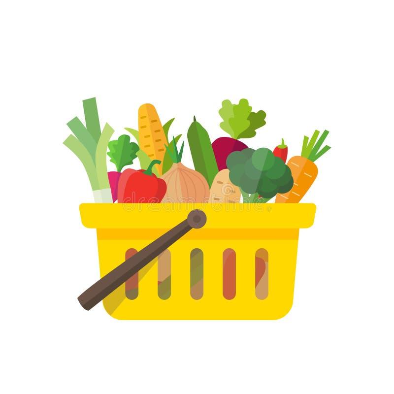 Het winkelen - Groenten vector illustratie