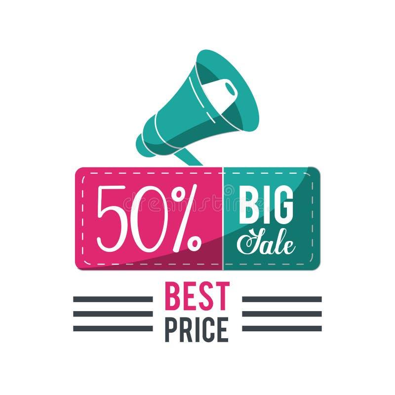 Het winkelen grote verkoop en kortingen royalty-vrije illustratie