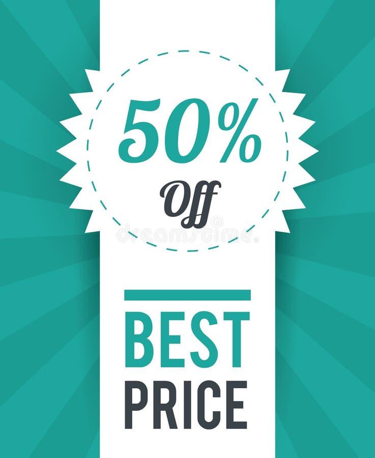 Het winkelen grote verkoop en kortingen vector illustratie