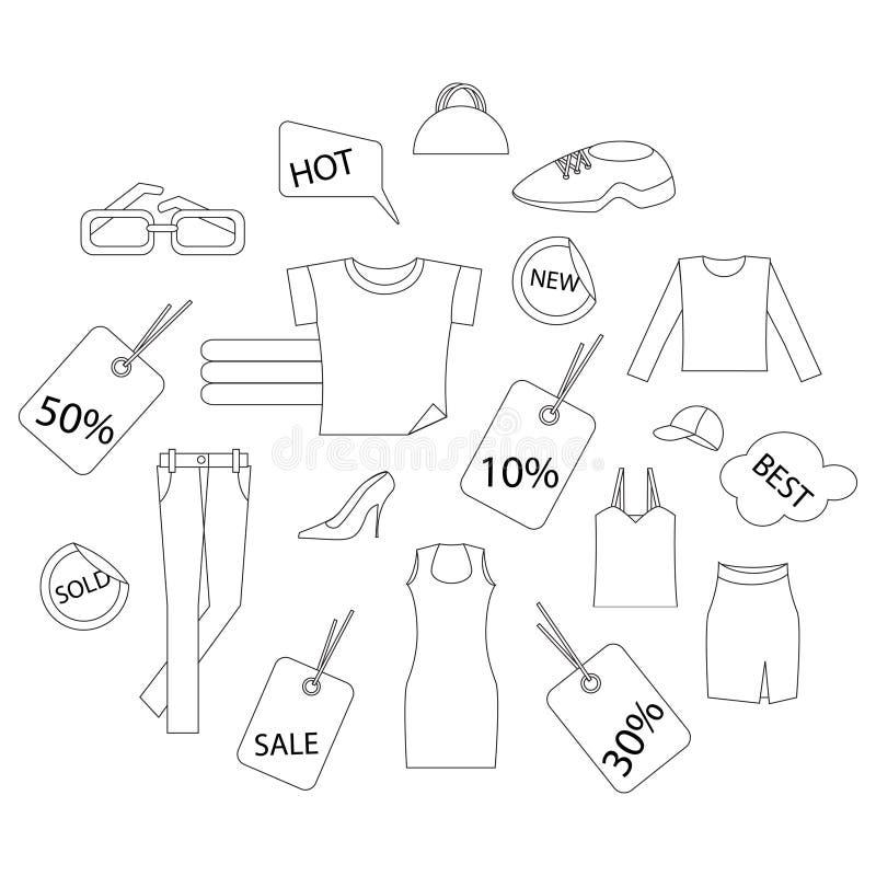 Het winkelen kleren stock illustratie