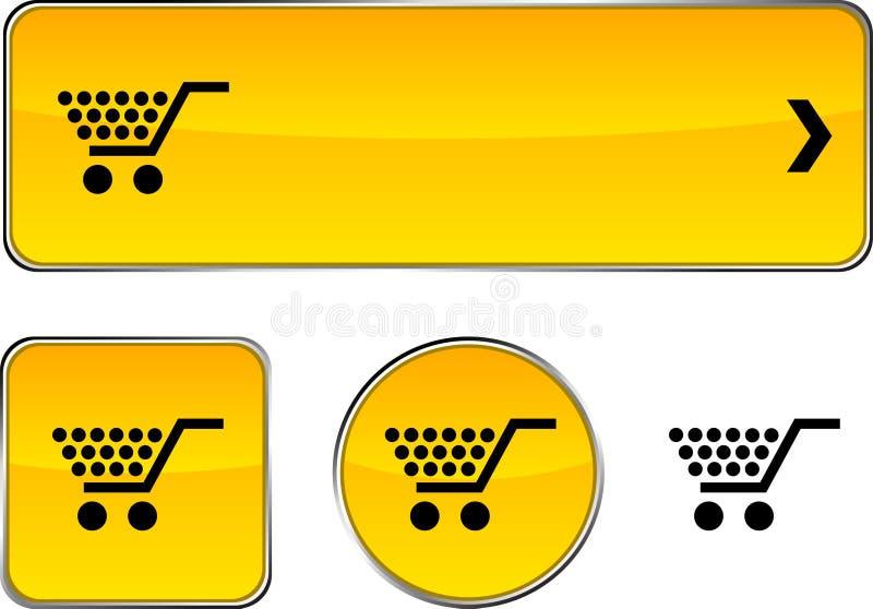 Het winkelen knoopreeks. vector illustratie