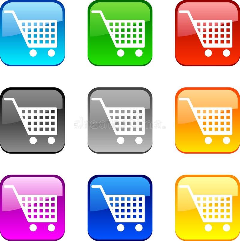 Het winkelen knopen. stock illustratie