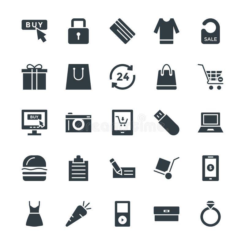 Het winkelen Koele Vectorpictogrammen 4 vector illustratie