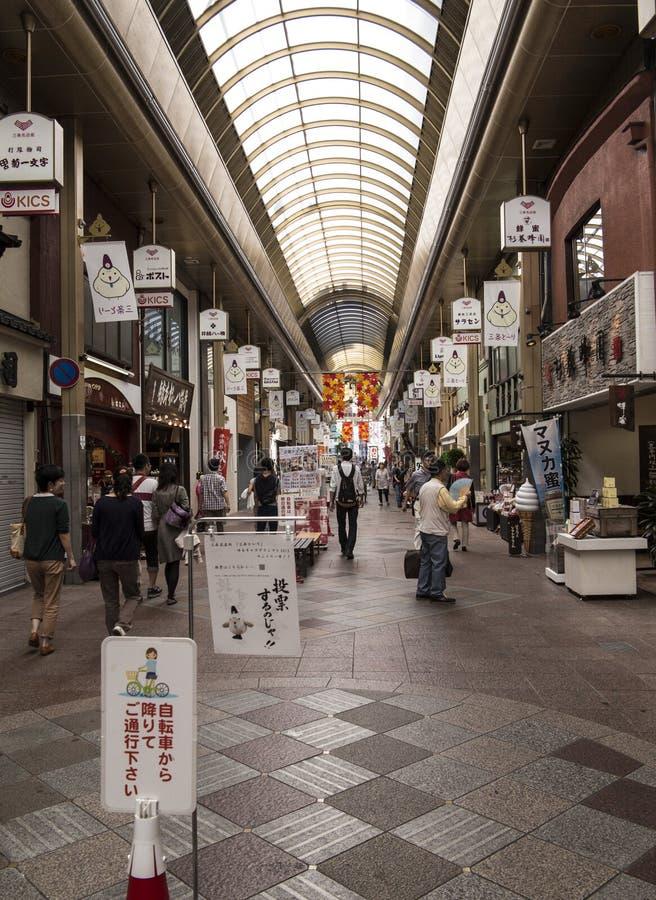 Het winkelen in Kyoto stock afbeelding
