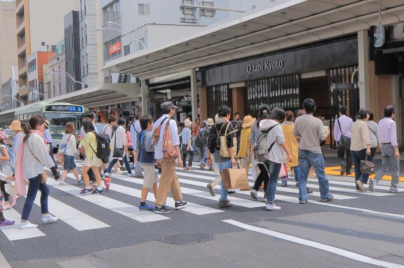 Het winkelen Kyoto straat Japan stock fotografie