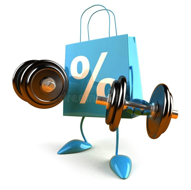 Het winkelen macht vector illustratie