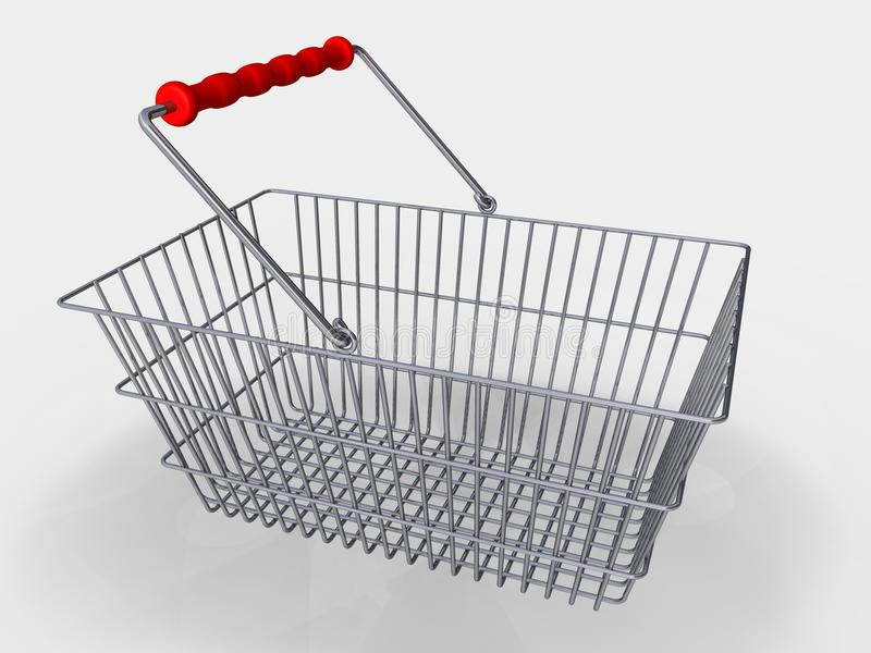 Het winkelen mand royalty-vrije illustratie