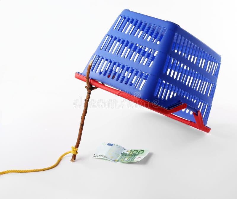 Het winkelen mand - het valconcept van de consument