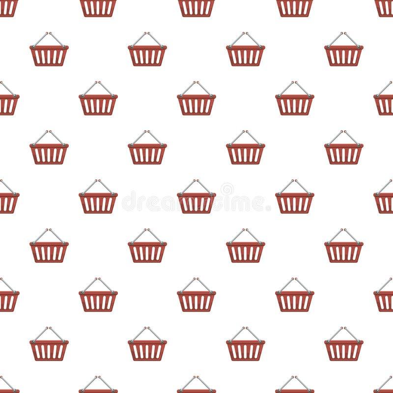 Het winkelen mandpatroon royalty-vrije illustratie