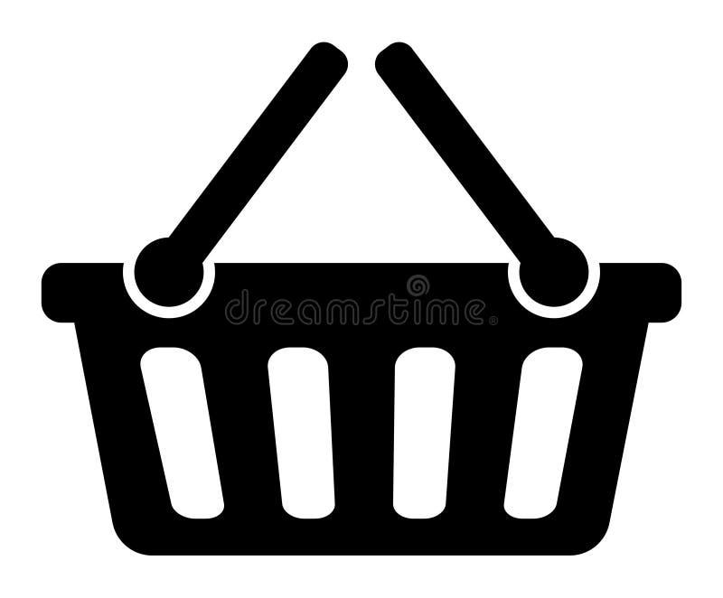 Het winkelen mandpictogram royalty-vrije illustratie