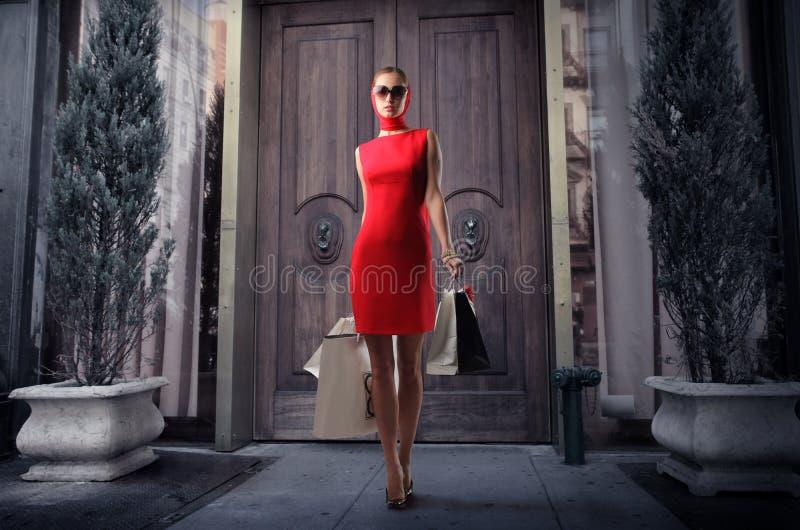 Het winkelen manie royalty-vrije stock fotografie