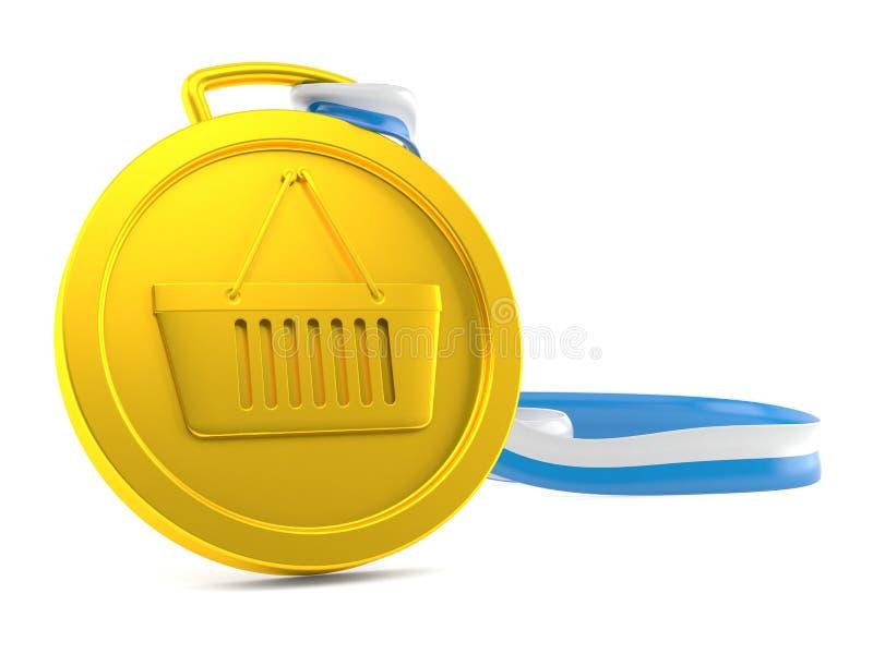 Het winkelen medaille vector illustratie