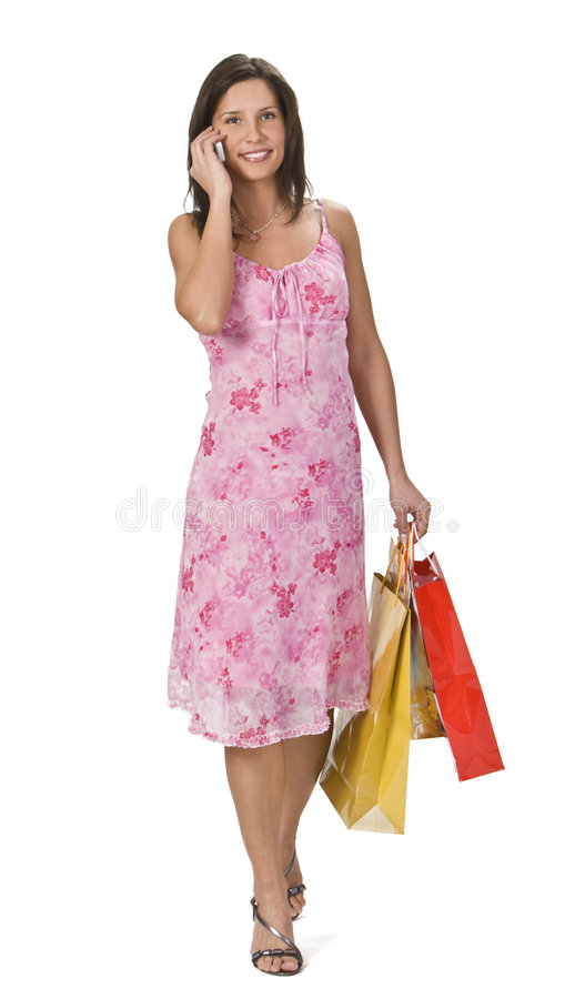 Het winkelen mededeling stock foto
