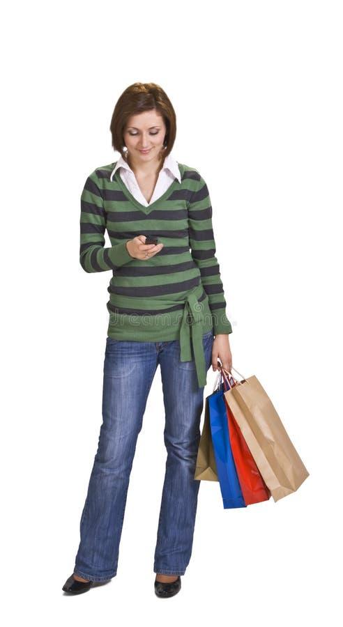 Het winkelen mededeling royalty-vrije stock afbeelding