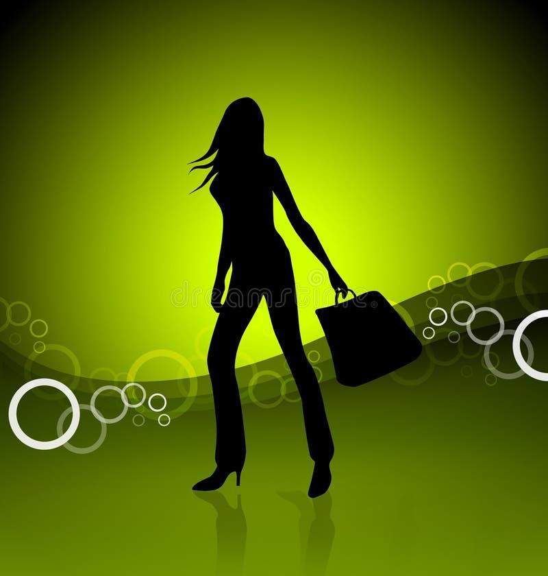 Het winkelen meisjesillustratie vector illustratie