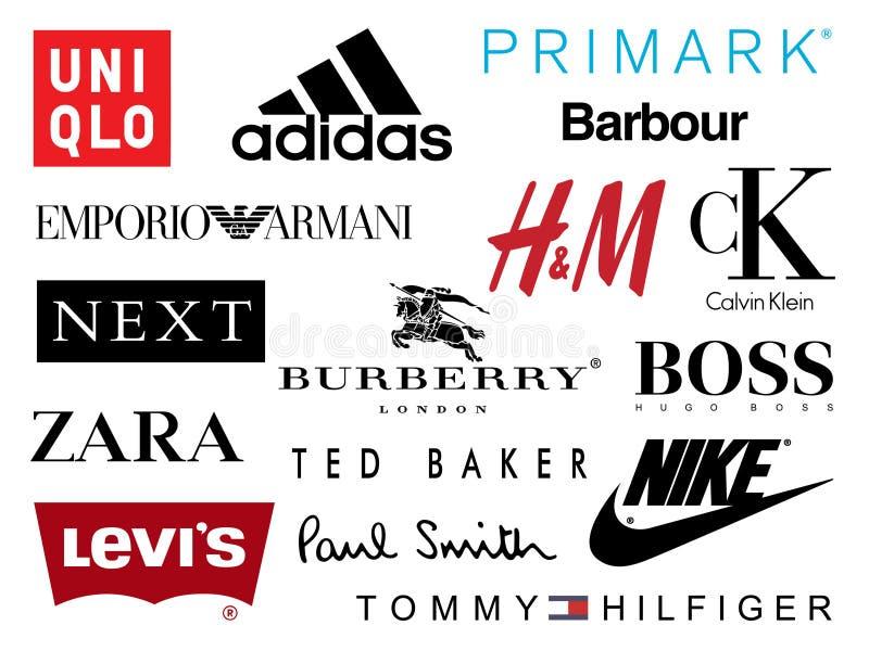 Het winkelen Merkenpictogrammen royalty-vrije illustratie
