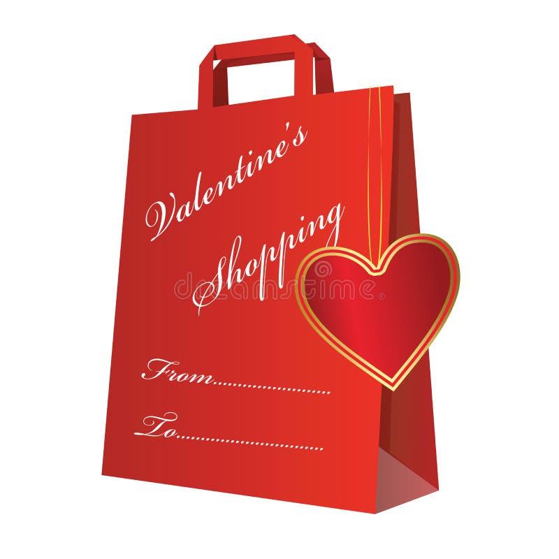 Het winkelen met hart royalty-vrije stock foto's