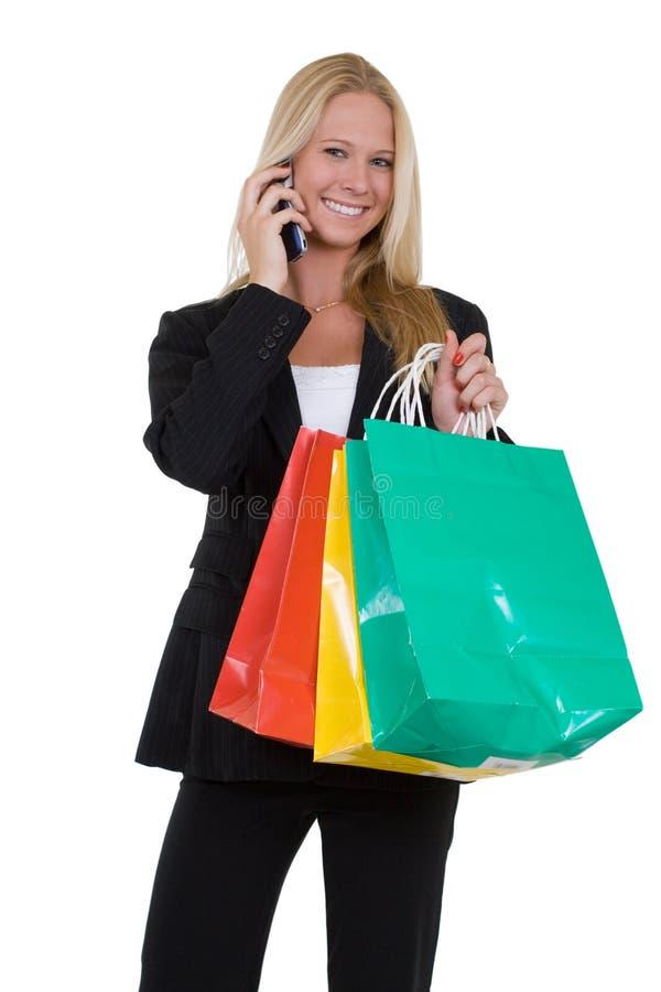 Het winkelen na het werk stock afbeelding