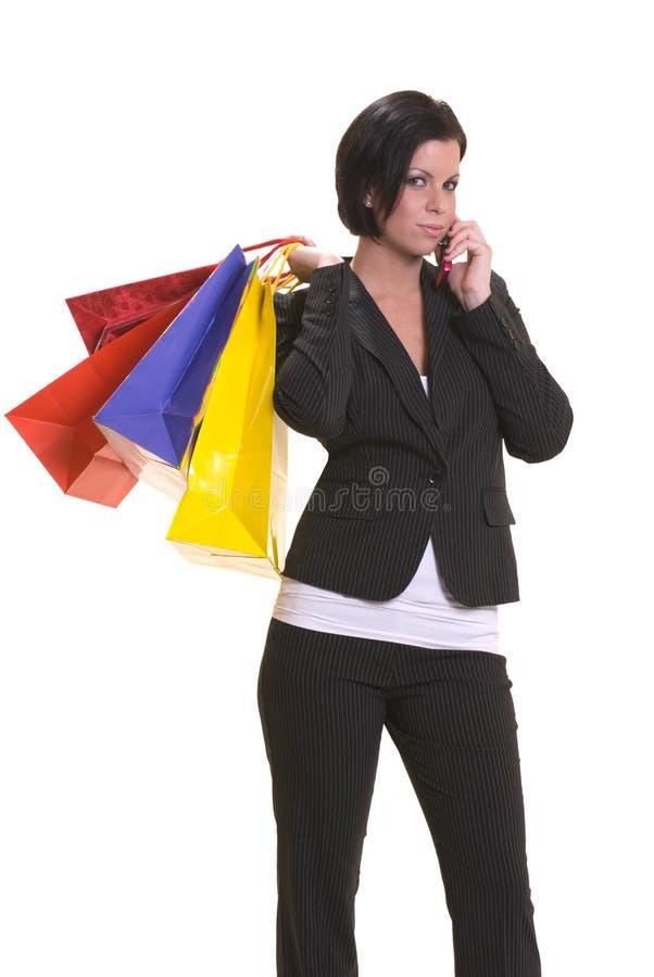 Het winkelen na het werk stock foto
