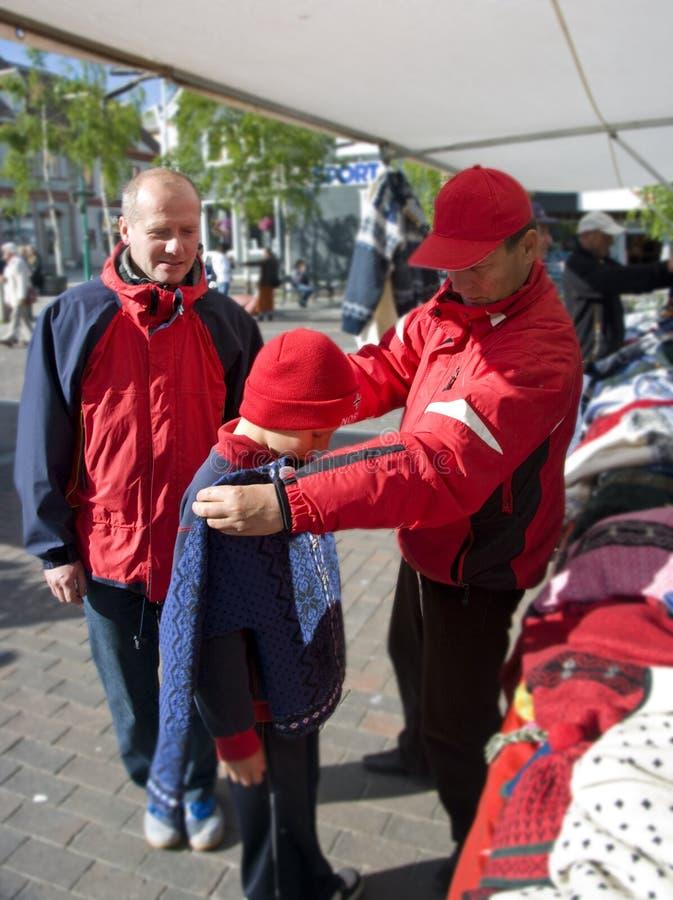 Het winkelen in Noorwegen stock foto