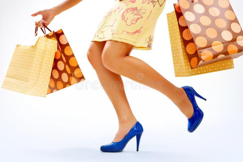 Het winkelen ogenblik stock foto's