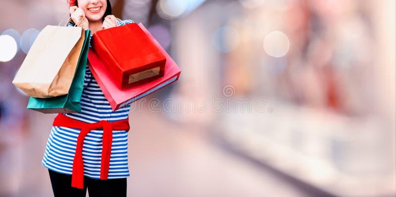Het winkelen op Black Friday en Tweede kerstdag royalty-vrije stock afbeeldingen