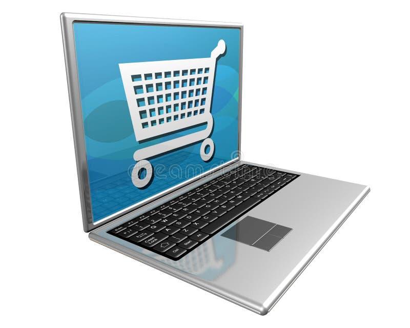 Het winkelen op Internet vector illustratie