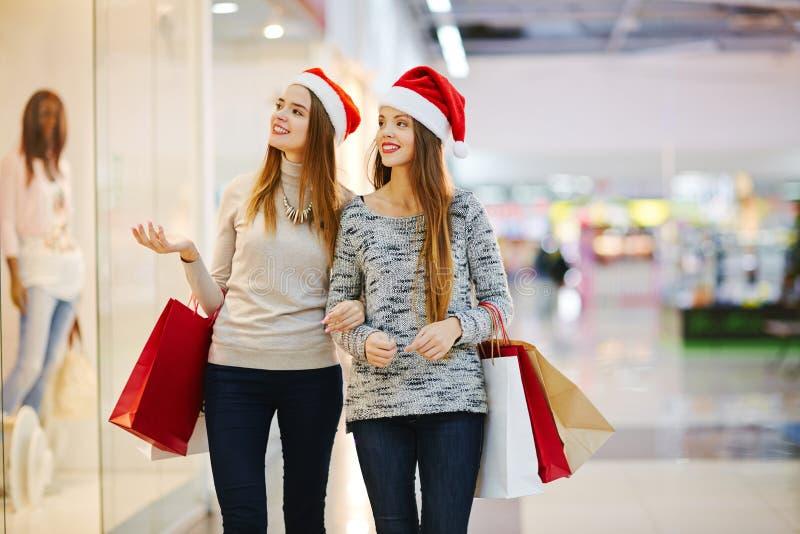 Het winkelen op Kerstmis royalty-vrije stock foto's